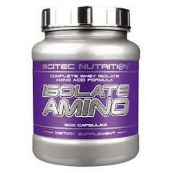 Scitec Nutrition Isolate Aminos, 500 Kapseln Dose
