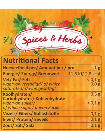XXL Nutrition Spices & Herbs 165g Dose